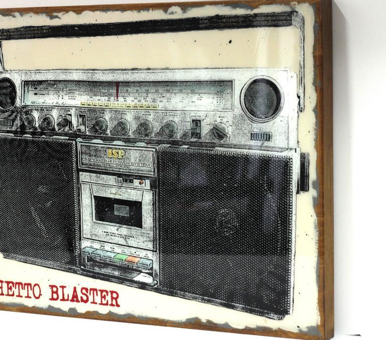 Carl smith ghetto blaster mixed media for sale at 1stdibs - Ghetto blaster acheter ...