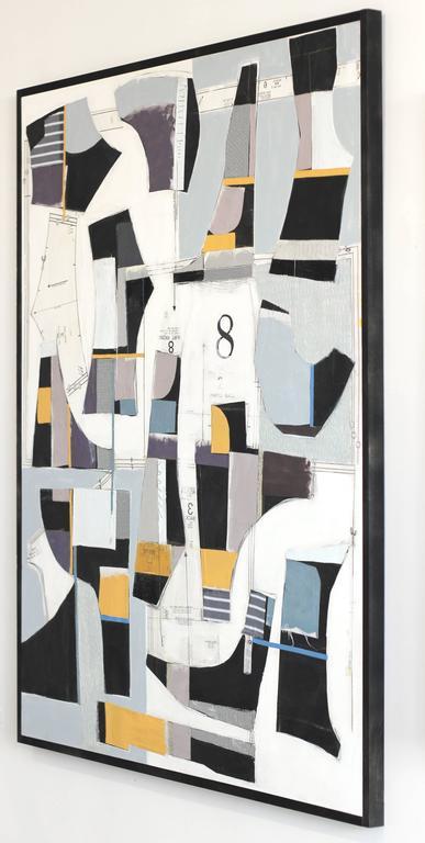 Deconstructed No. 8 - Gray Abstract Painting by Susan Washington
