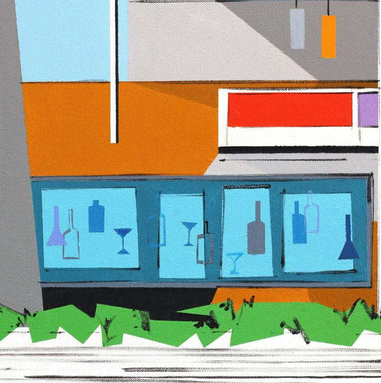 Apartment Set for Untitled Movie No. 2 - Abstract Geometric Painting by Michael Murphy