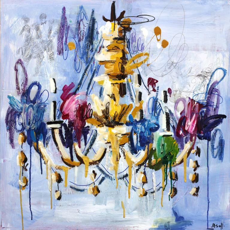 Ash Almonte Abstract Painting - Life is a Dance