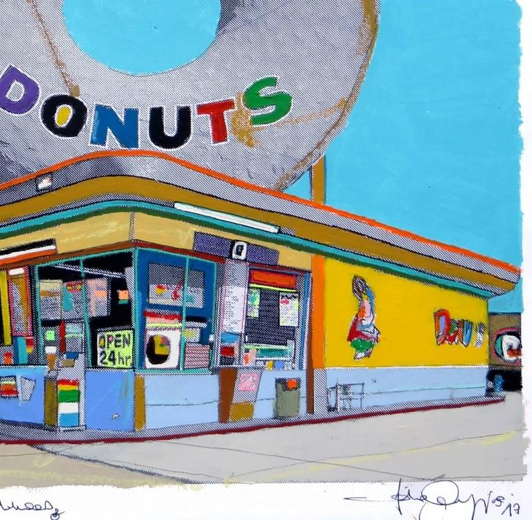 Fabio coruzzi giant donut in inglewood painting at 1stdibs for Inglewood jewelry and loan inglewood ca
