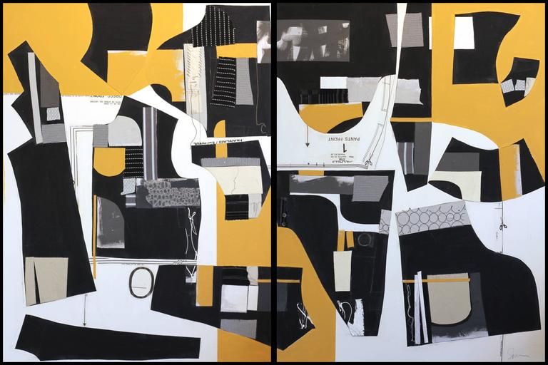 Susan Washington Abstract Painting - Deconstructed No.10 (Diptych)