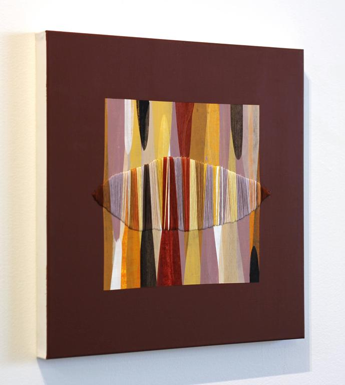 Poemes XXXIX - Brown Abstract Painting by Raul de la Torre