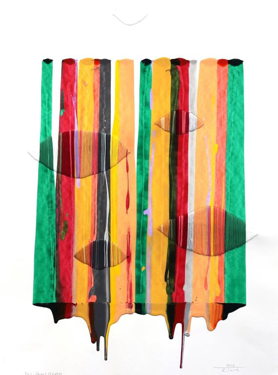 Raul de la Torre Abstract Painting - Fils I Colors CCLXXIII