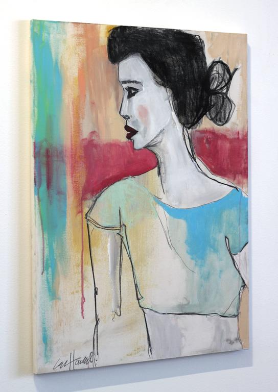 Zelia - Contemporary Painting by Erin Hammond
