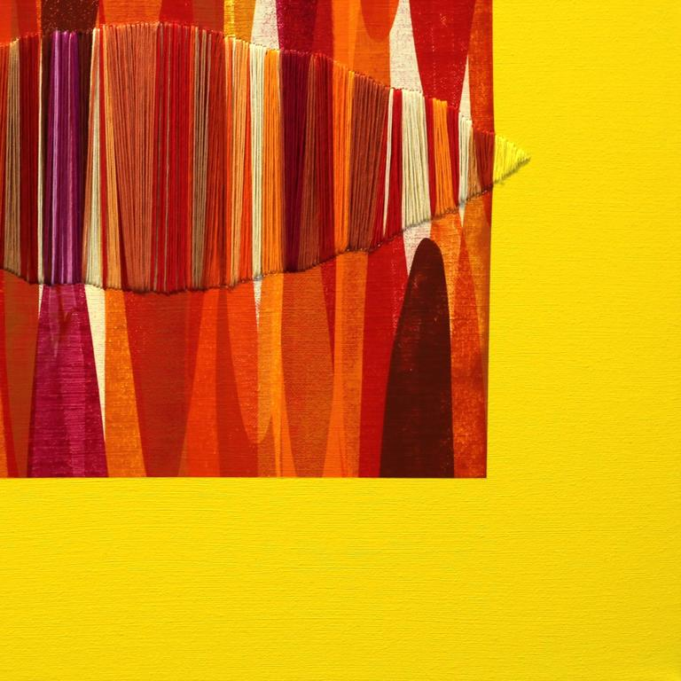 Poemes XLVI - Abstract Painting by Raul de la Torre