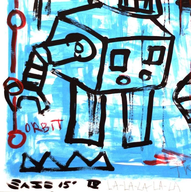 Moon Robot - Street Art Painting by Gary John
