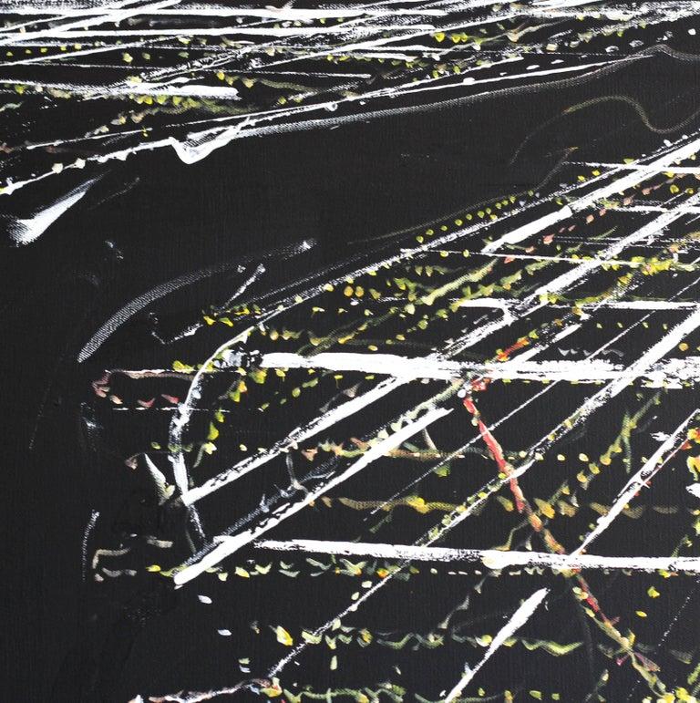 Manhattan Aerial - Abstract Painting by Pete Kasprzak