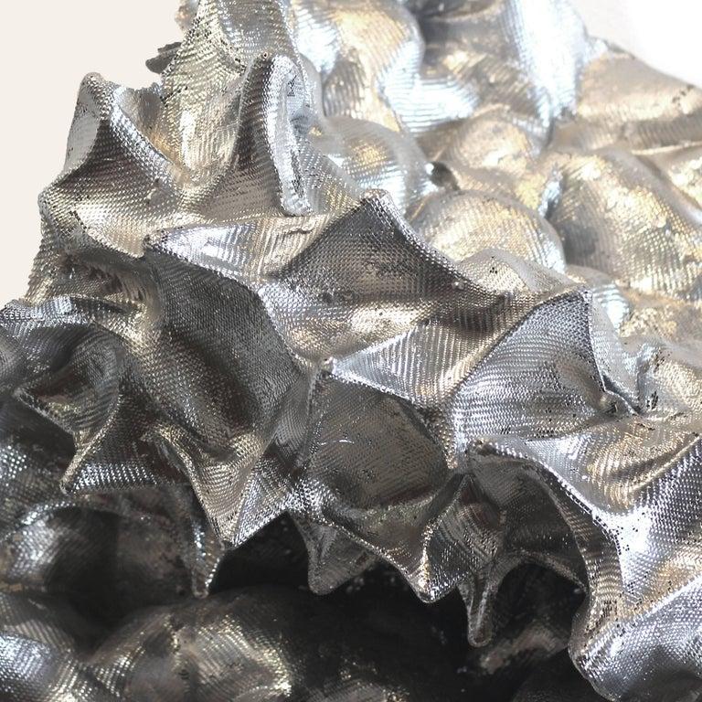 Silver Sea Form - Contemporary Sculpture by Atticus Adams