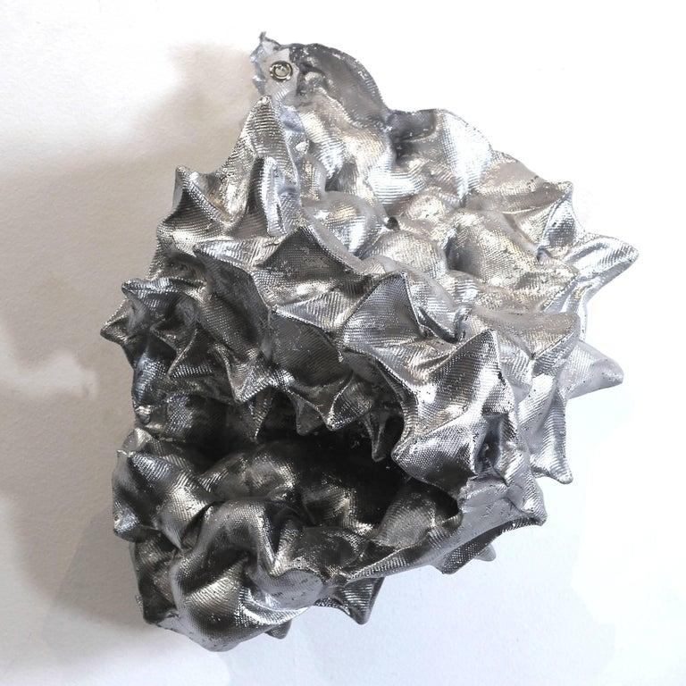 Atticus Adams Abstract Sculpture - Silver Sea Form