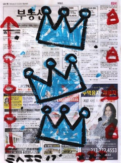 """Cobalt Kings"" - Original Street Art Painting by Gary John"