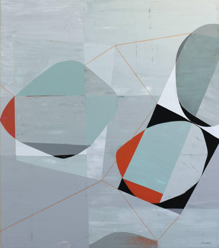 Heny Steinberg Abstract Painting - Dynamic Tension 3