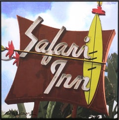 """Safari Inn"", Original Photorealistic Mixed Media Artwork, Framed"