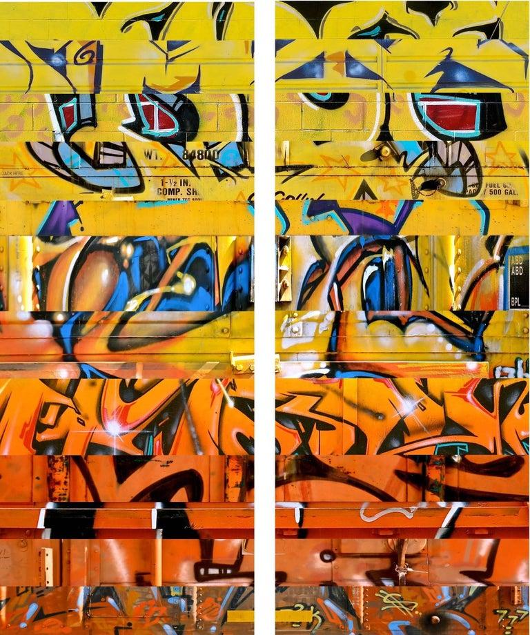 Sun King (diptych) - Mixed Media Art by Nicola Katsikis