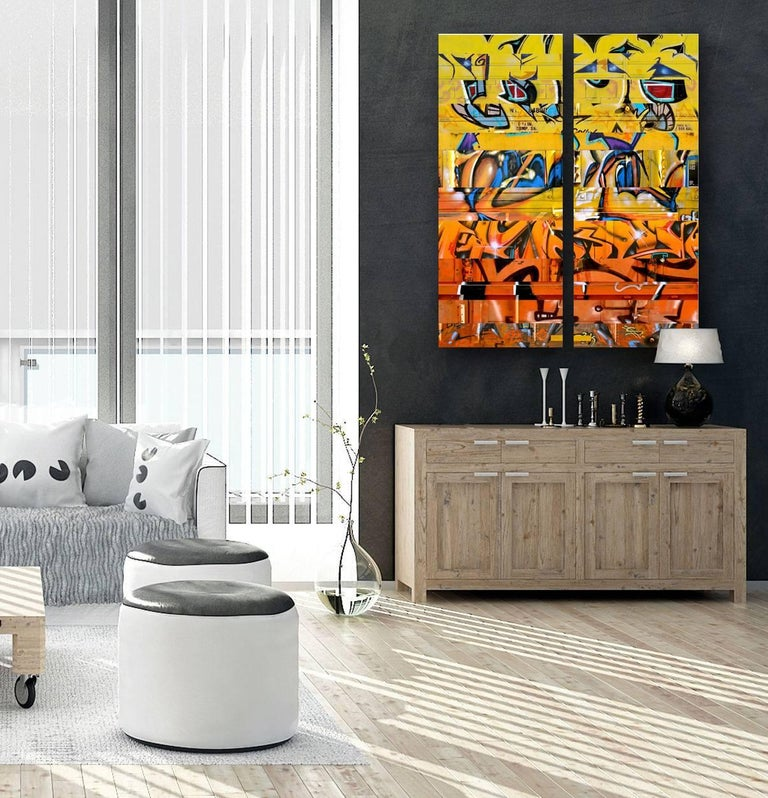 Sun King (diptych) For Sale 2