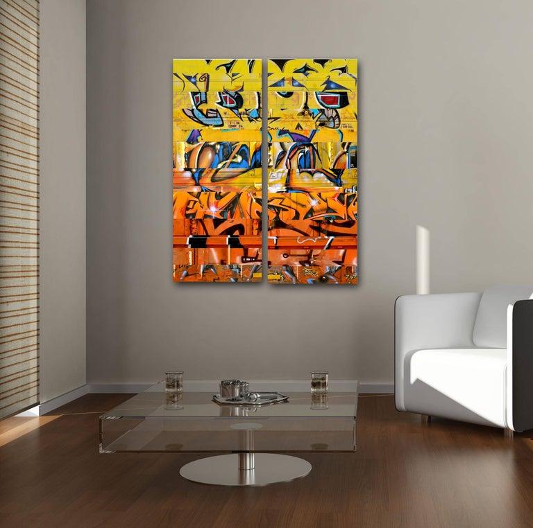 Sun King (diptych) - Street Art Mixed Media Art by Nicola Katsikis