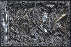 Rock - Original Black and Silver Sculptural Mixed Media Artwork