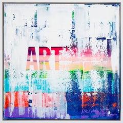 """""""Art Lover"""" - Framed Original Mixed Media Artwork"""