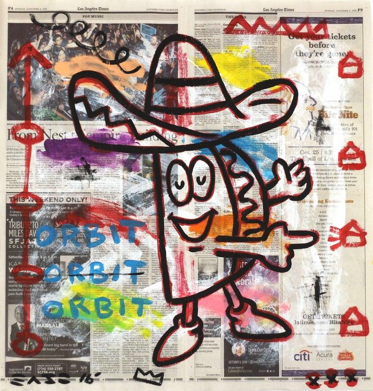 """Taco Time"" - Original Street Art Painting by Gary John"