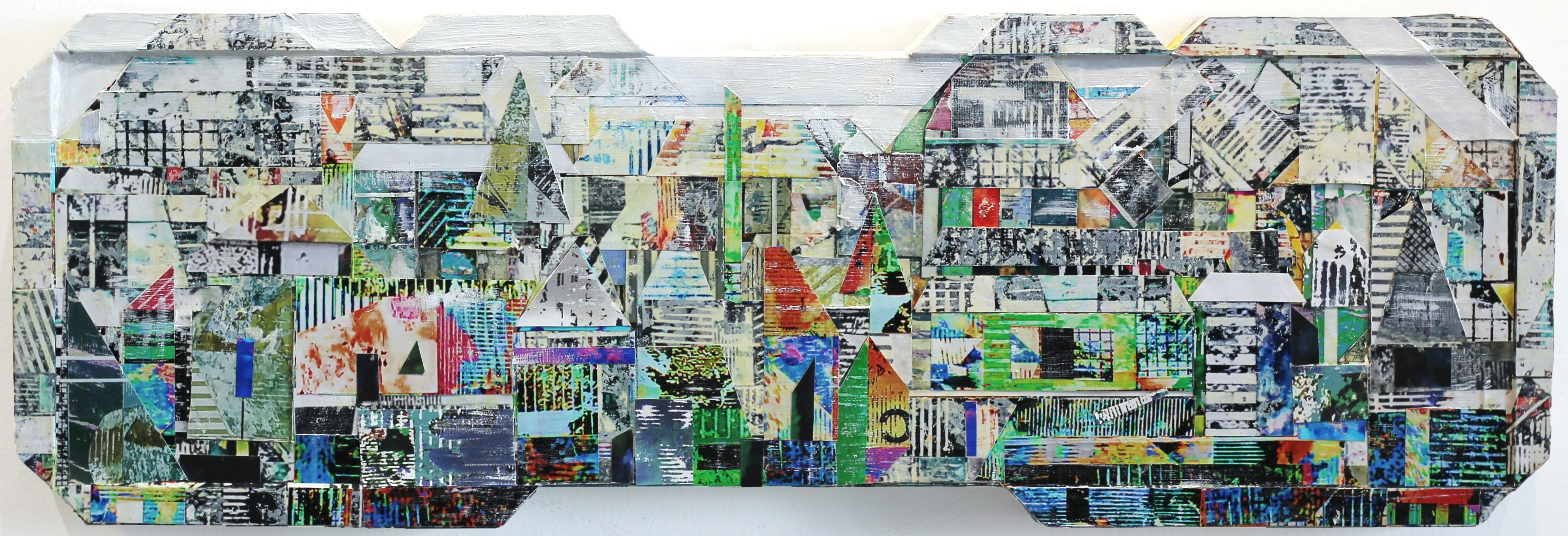 Sublime 717 - Contemporary Sculptural Photographic Collage Wall Artwork