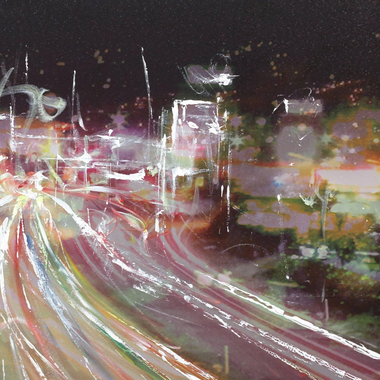 Double Up 5 Freeway in Burbank - Abstract Painting by Pete Kasprzak