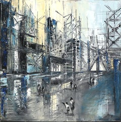 """My City 2"" - original oil painting on canvas"