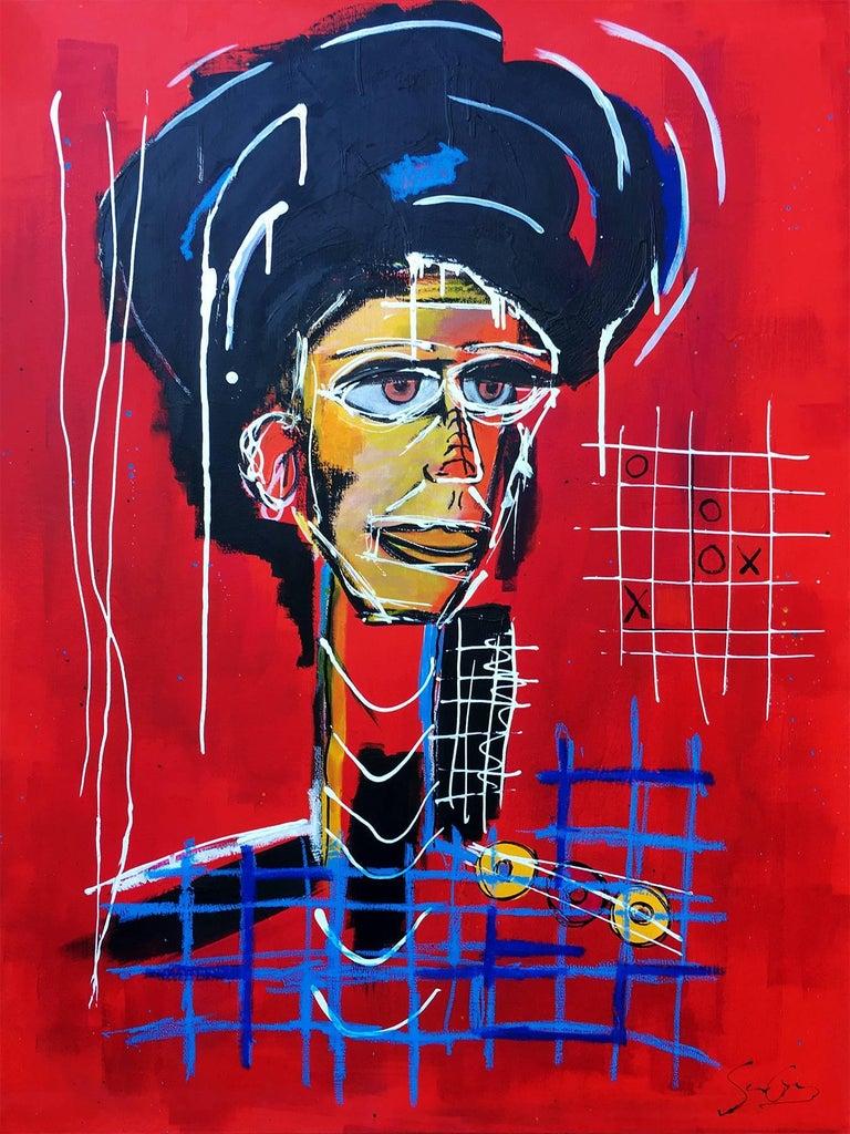 Soren Grau Figurative Painting - Daily Charade