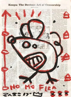 """Devious"" - Original Street Art Painting by Gary John"