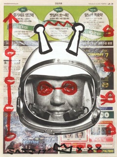 """Outer Space Adventure"" - Original Street Art Painting by Gary John"