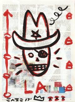 """Rhinestone Cowboy"" - Original Street Art Painting by Gary John"