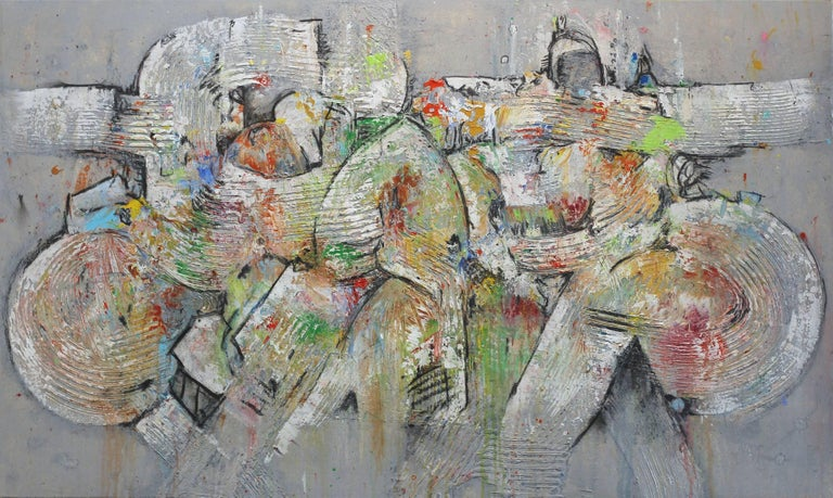 Foggy Day  - large original mixed media painting