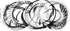 Eta Leporis - Abstract Large Scale Black and White Artwork
