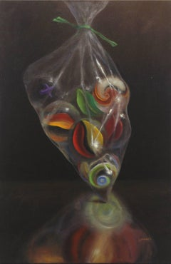 Bag of Marbles - Photorealistic Oil Painting on Canvas