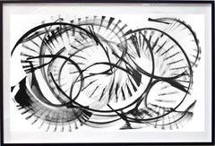 Epsilon Eridani - Large Framed Original Abstract Black and White Painting