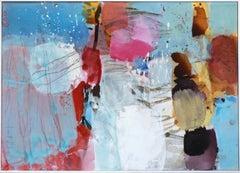 Sea Breeze - Abstract Mixed Media Painting (framed)