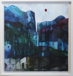 Indigo Canyon - Original Canvas Artwork (Framed)