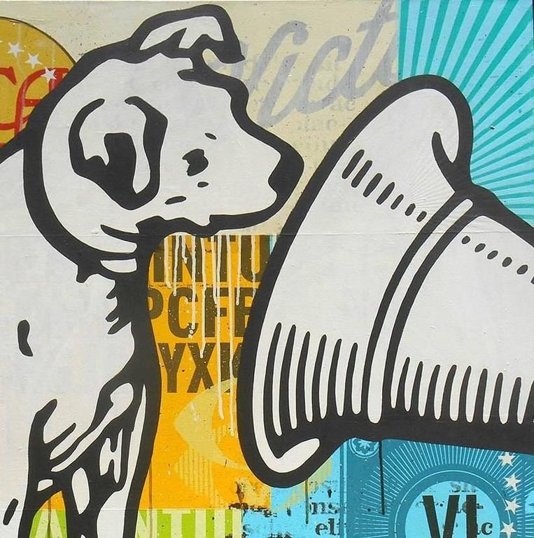 His Master's Voice - Pop Art Mixed Media Art by Johnny Taylor