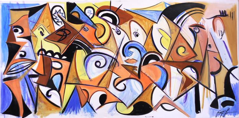 Frankie Alfonso Abstract Painting - Sync