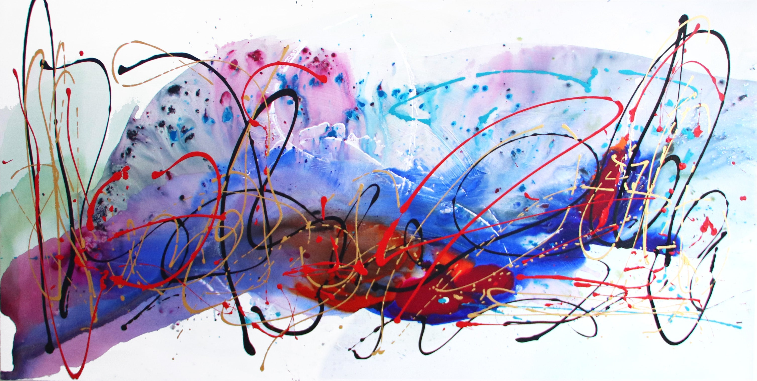 Energy - Oversized Energetic Colorful Original Artwork on Canvas