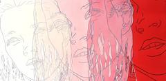 Cream, Pink, Red