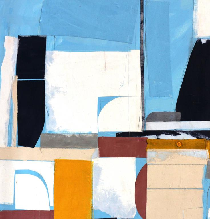 Miami to Ibiza - Abstract Expressionist Painting by Susan Washington