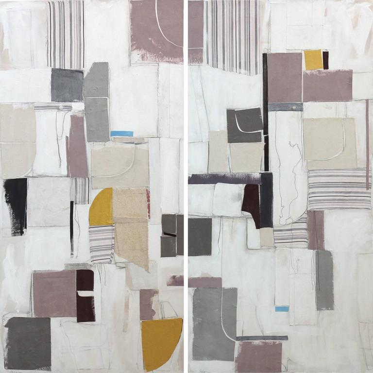 Susan Washington Abstract Painting - City of Angels III (Diptych)