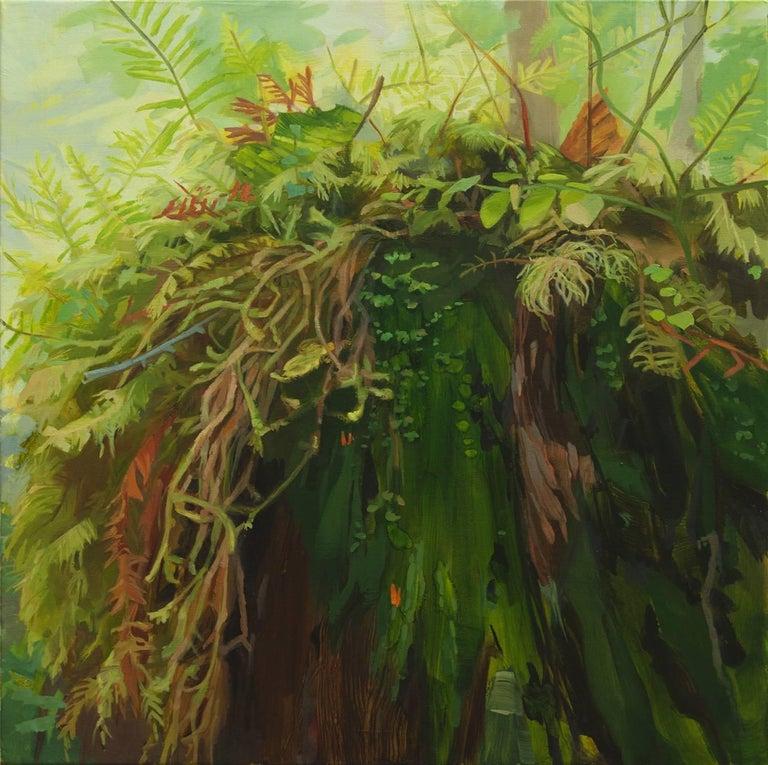Kristin Musgnug Landscape Painting - Moss-Topped Stump
