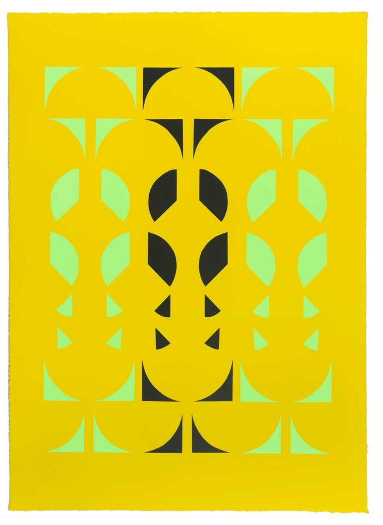 Emily Joyce Abstract Print - The Third of May, Yellow