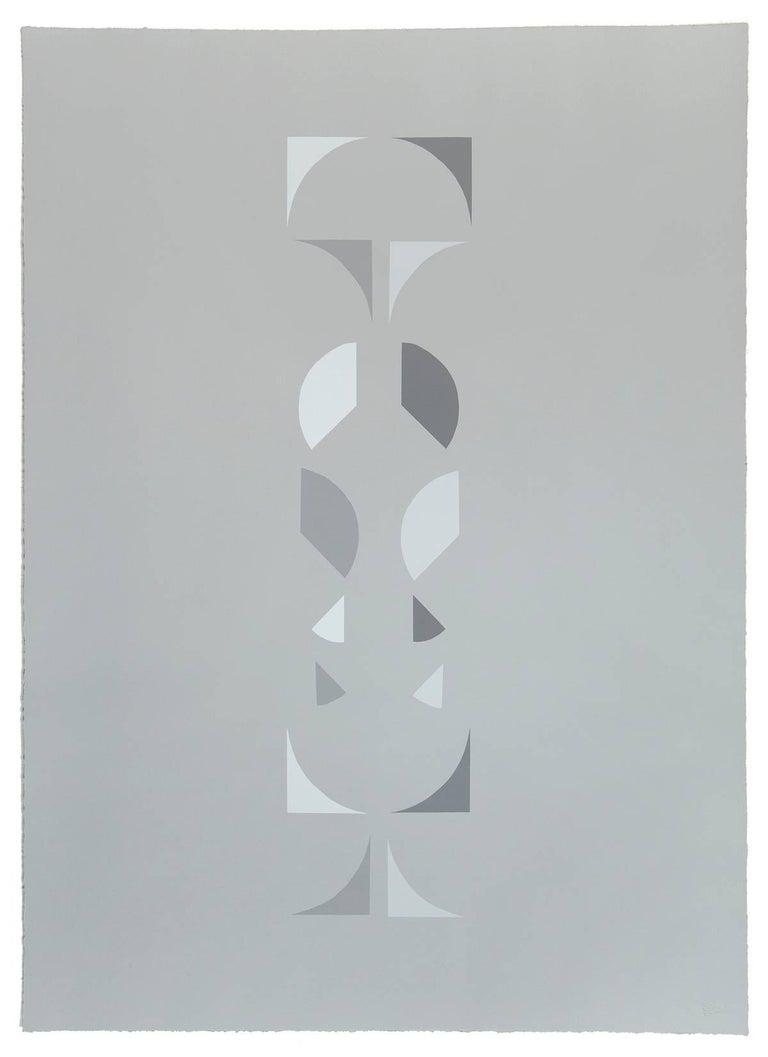 Emily Joyce Abstract Print - The Third of May, Grey