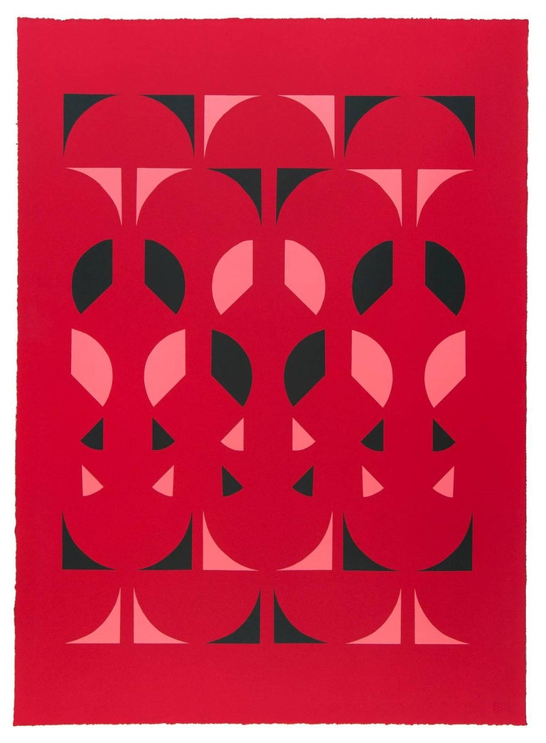 Emily Joyce Abstract Print - Third of May, Red