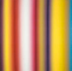 Ecstasy - bright color stripe abstract contemporary oil painting