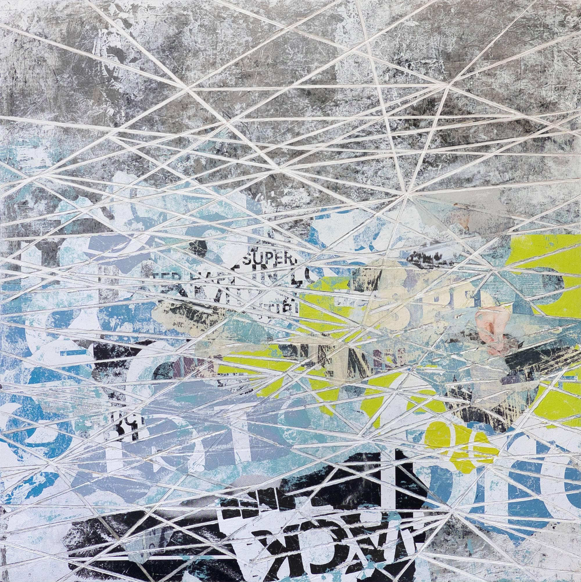 Graffiti Rose - Contemporary Abstract Geometric Street Art Painting