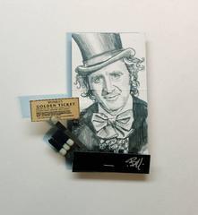 Willie Wonka- figurative portrait on matchbox