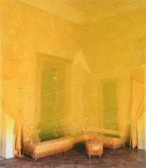 Ingeminate - yellow contemporary interior photo transfer collage on mylar